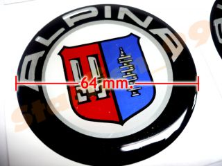 4X Alpina Wheel Center Emblem BMW E60 E61 E90 E91 528xi