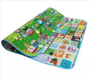 Baby Play Mat 200cm x 180cm x 0 5cm Waterproof Traffic Alphabet