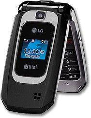 New LG AX310 Black Alltel Cellular Flip Phone w BT GPS Camera SMS and