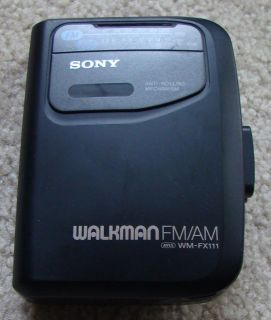 Vintage Sony Walkman Wm FX111 Am FM Radio Cassette Player
