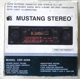 NEW MUSTANG STEREO AM FM AUTO CAR CASSETTE PLAYER RADIO DIGITAL TUNING