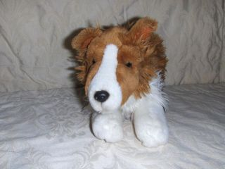 Rare Animal Alley Toys R Us Plush Collie Sheltie Dog Stuffed Animal