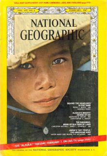 National Geographic 1967 January February March April Magazines