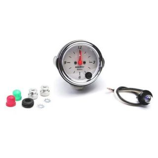 New Auto Meter Arctic White Series 12 Volt Electric Clock Gauge 2 1 16