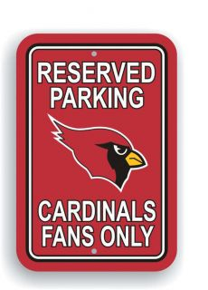 Arizona Cardinals Reserved Parking Fans Only Sign