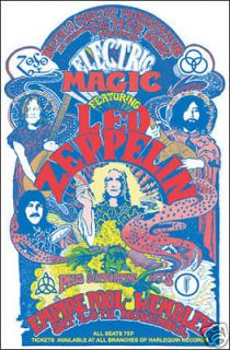 led zeppelin empire pool wembley 1971 concert poster time left