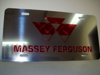 massey ferguson red diamond chrome license plate