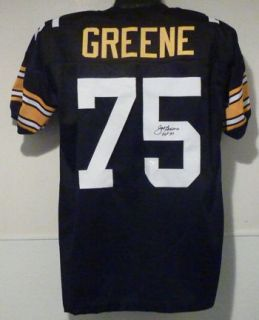 Joe Greene Autographed Signed Pittsburgh Steelers Size XL Poly Jersey