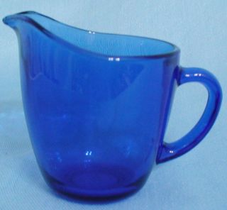 anchor hocking cobalt blue clear glass creamer mint time left