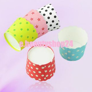 50pcs Spots Cake Baking Paper Cup Cupcake Muffin Cases Liners Wedding