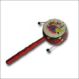 rattle drum baby toys Children Cartoon Pattern Chinese Traditional