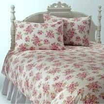 SIMPLY SHABBY CHIC BLUSH BEAUTY DUVET SET 2 RUFFLED SHAMS FULL QUEEN