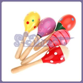 Wooden Maraca Rattles Kid Music Party Favor Baby Shaker Toy Musical