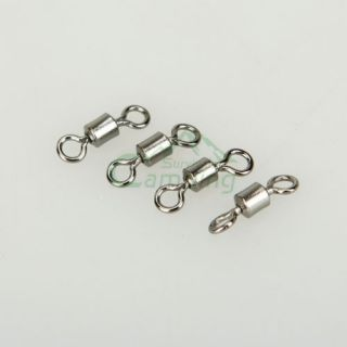 Lot 100pcs Balll Bearing Swivel Solid Rings Fishing Connector 26g