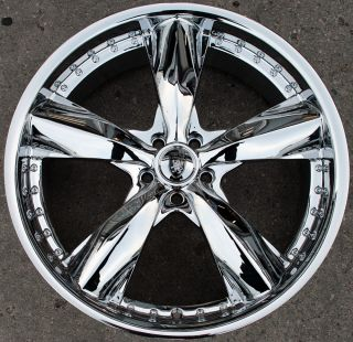 VON MAX VM05 20 CHROME RIMS WHEELS FORD FUSION FLEX MUSTANG
