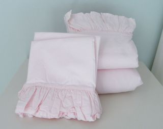 Rachel Ashwell Simply Shabby Chic Blush Beauty Pink Ruffled Full Sheet