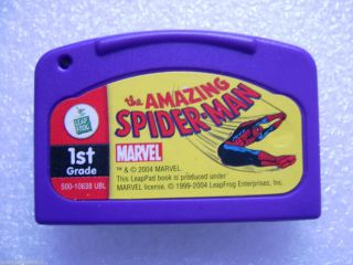 Leap Frog LeapPad The Amazing Spider Man Gaming Cartridge 1st Grade