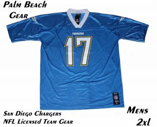 SAN DIEGO CHARGERS NFL PHILIP RIVERS (17) REPLICA JERSEY.2xl.HOT LIST