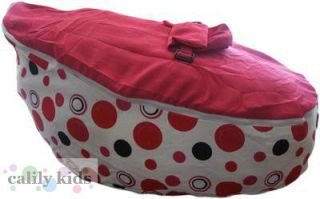 Toddler Kids Portable Bean Bag Seat Snuggle Bed Pink Dot Pink