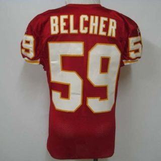 Jovan Belcher Kansas City Chiefs Game Worn Jersey 10/24/10 vs. Jaguars