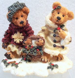 Boyds Bears Edmund Bailey Holly Christmas Resin 2240