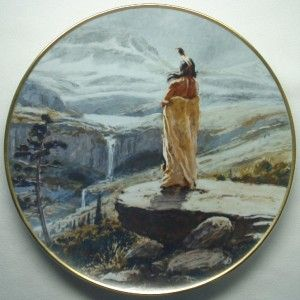 Promised Land Joe Beeler Indian Art Plate Signed 1978