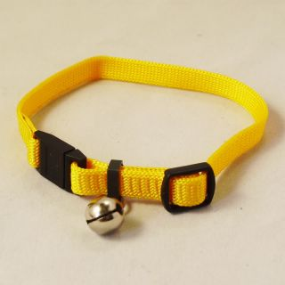 Color Pets Dogs Buckle Bell Nylon Collar Puppy 1 25cm