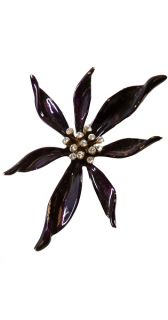 Ben Amun Collectors Rhinestone Flower Brooch Signed New