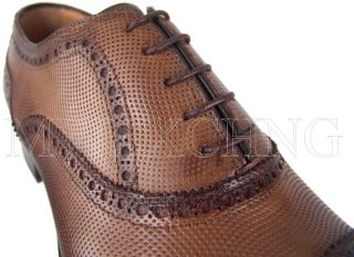 Francesco Benigno Cap Toe Brogue Oxfords UK 10 Italian Designer Mens