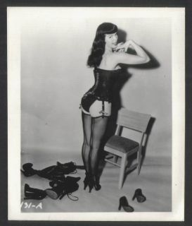 VINTAGE IRVING KLAW BETTIE BETTY PAGE BLACK LEATHER CORSET HIGH HEELS