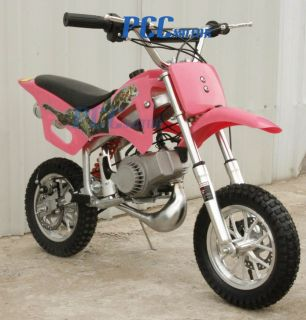 KID 49CC 50CC 2 STROKE GAS MOTOR MINI BIKE DIRT PIT BIKE PINK H DB49A