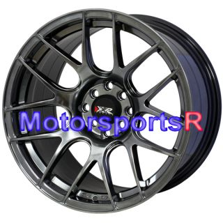17 XXR 527 Chromium Black Rims Wheels Staggered 4 Lugs 95 96 98 Nissan