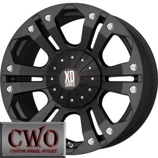 18 Black Monster Wheels Rims 6x139 7 6 Lug Titan Tundra GMC Chevy 1500