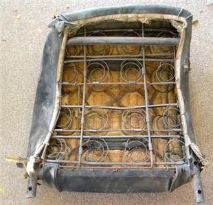 Corvette Used Original Seat Back Frames Assemblies w/Springs, L & R/Pr