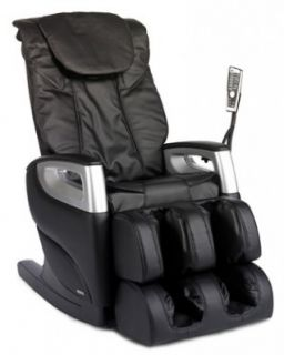 NEW Cozzia 16018 BLACK Full Body Massage Chair Recliner w/ LED Remote