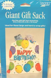 Giant Gift Bag Sack Bags Happy Birthday Party Balloons