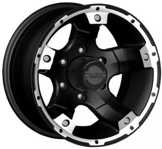 Black Rock 900 Viper 15x8 Aluminum Wheels Rims Black