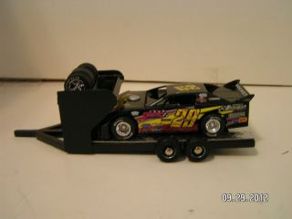 Custom Hand Built Black Modified Dirt Late Model Race Car Hauler