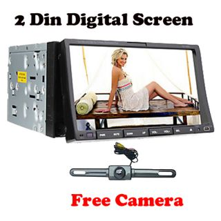 Touchscreen 2 DIN Car DVD Player Radio Stereo Bluetooth iPod Camera