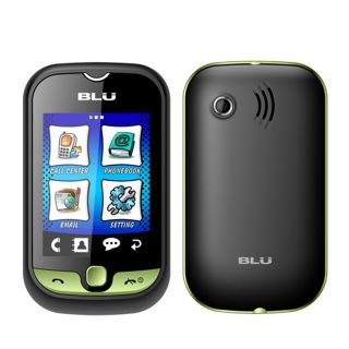 New Blu Deejay Touch TV S210 Green Touchscreen Dual Sim Unlocked GSM