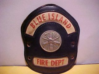 Blue Island Illinois Fire Helmet Front