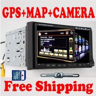 DIN in Dash Car Stereo DVD Player Bluetooth iPod TV Map Camera