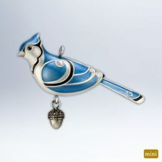 New in Box 2012 HALLMARK Blue Jay Miniature Mini Bird Ornament NRFB