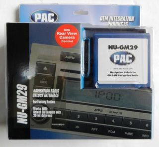 New Pac Nu GM29 GM Vehicles w OnStar Navigation Unlock Radio Interface