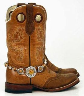COUNTRY WESTERN COWGIRL TAN AGATE BOOT JEWELRY BY HILL COUNTRY GIRLS