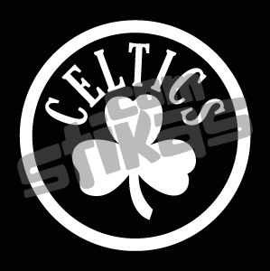 Boston Celtics White Vinyl Decal Car Window Sticker NBA Stika