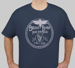 Brian Boru Irish Pipe Band Bagpipes T Shirt M 2XL