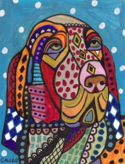 Print Bracco Italiano Abstract Dog Modern Art Painting