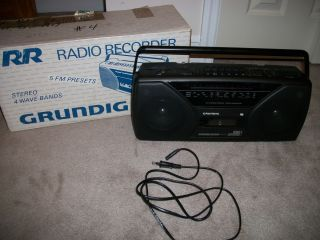 Grundig Boombox Radio Cassette Player Recorder