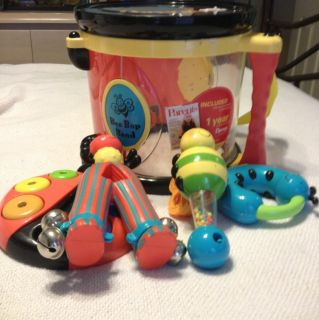 Parents Bee Bop Band Toy Music Drum Leap Frog Instruments Battat